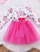 זול שמלות לתינוקות-שמלה שרוול ארוך פרחוני בנות תִינוֹק