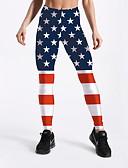 זול מכנסיים לנשים-בגדי ריקוד נשים Temel צועד - דפוס, דגל אמריקאי מותן בינוני פול XXL XXXL XXXXL / רזה