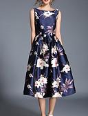 povoljno Print Dresses-Žene Praznik / Izlasci Ulični šik A kroj / Swing kroj Haljina Cvjetni print Midi