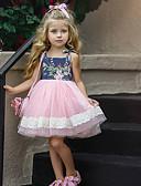olcso Bébi ruhák-Baba Lány Aktív Virágos / Kollázs Ujjatlan Térdig érő Ruha Arcpír rózsaszín