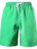 ราคาถูก ชุดว่ายน้ำผู้ชาย-สำหรับผู้ชาย Sporty พื้นฐาน ใบไม้สีเขียวที่มีสามแฉก ส้ม ทับทิม Swim Trunk กางเกงว่ายน้ำ ชุดว่ายน้ำ - สีพื้น รองเท้าผูกเชือก XL XXL XXXL ใบไม้สีเขียวที่มีสามแฉก