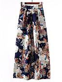 זול חצאיות לנשים-דפוס חצאיות מקסי ישר וינטאג' / מתוחכם בגדי ריקוד נשים פול שחור אודם XL XXL XXXL