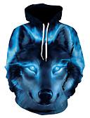 baratos Abrigos e Moletons Masculinos-Homens Básico Jacket Hoodie 3D Com Capuz