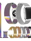 זול להקות Smartwatch-צפו בנד ל Apple Watch Series 4/3/2/1 Apple רצועת ספורט / לולאה בסגנון מילאנו מתכת אל חלד רצועת יד לספורט