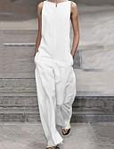 Χαμηλού Κόστους Γυναικείες μακριές και μίνι ολόσωμες φόρμες-Γυναικεία Μαύρο Λευκό Πλατύ Πόδι Λεπτό Φόρμες Ολόσωμη φόρμα, Μονόχρωμο Τ M L