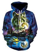 Χαμηλού Κόστους Αντρικές Μπλούζες με Κουκούλα & Φούτερ-Ανδρικά Βασικό hoodie σακάκι - 3D Με Κουκούλα