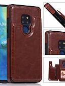 ราคาถูก เคสสำหรับโทรศัพท์มือถือ-Case สำหรับ Huawei Huawei Mate 20 lite / Huawei Mate 20 pro / Huawei Mate 20 Card Holder ปกหลัง สีพื้น Hard หนัง PU