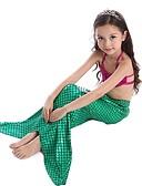 זול בגדי ים לבנות-בגדי ים גיאומטרי זנב של בתולת ים בסיסי בנות ילדים