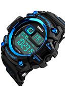 זול להקות Smartwatch-SKMEI®1229 איש אישה חכמים שעונים Android iOS WIFI עמיד במים ספורטיבי המתנה ארוכה Smart Alarm Clock לוח שנה אזור זמן כפול