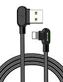 Χαμηλού Κόστους Κοστούμια-Φωτισμός Καλώδιο 0.5 Μ (1.5Ft) Πλεκτό / Γρήγορη φόρτιση Νάιλον Προσαρμογέας καλωδίου USB Για iPhone