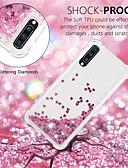 זול מגנים לטלפון-מגן עבור Samsung Galaxy A6 (2018) / A6+ (2018) / Galaxy A7(2018) עמיד בזעזועים / נוזל זורם / זוהר ונוצץ כיסוי אחורי לב / זוהר ונוצץ רך TPU