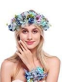 billige Accessories-Flonel / Legering pannebånd med Blomster 1 pakke Bryllup / Spesiell Leilighet Hodeplagg