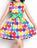זול שמלות לבנות-שמלה ללא שרוולים מנוקד נקודה פעוטות