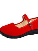 זול שעונים מכאניים-בגדי ריקוד נשים נעליים ללא שרוכים עקב טריז בוהן עגולה מיקרופייבר יום יומי קיץ אדום / כחול / ורוד