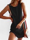זול שמלות מודפסות-מעל הברך אחיד - שמלה גזרת A בסיסי בגדי ריקוד נשים