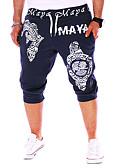 זול מכנסיים ושורטים לגברים-בגדי ריקוד גברים בסיסי משוחרר צ'ינו / מכנסי טרנינג מכנסיים - אחיד לבן כחול נייבי אפור US36 / UK36 / EU44 US38 / UK38 / EU46 US40 / UK40 / EU48