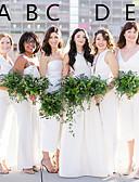 ราคาถูก Special Occasion Dresses-A-line สายสปาเกตตี้ / คอสวีทฮาร์ท ข้อเท้า / ลากพื้น ซาติน เพื่อนเจ้าสาวชุด กับ ริบบิ้น โดย JUDY&JULIA