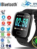 Χαμηλού Κόστους Μηχανικά Ρολόγια-a6s έξυπνο ρολόι βραχιολάκι καρδιακό ρυθμό παρακολούθηση της πίεσης του αίματος δραστηριότητα γυμναστήριο tracker βραχιόλι έξυπνη ζώνη για ios android