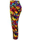 baratos Calcinhas-Mulheres Calças de Yoga Riscas Corrida Fitness Treino de Ginástica 3/4 calças justas 3/4 Calça Capri Roupas Esportivas Pavio Humido Com Stretch Skinny