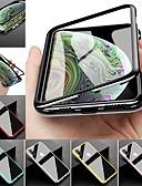 זול מגנים לאייפון-מארז iPhone xs iPhone xs מקסימום ציפוי במקרים גוף מלא מוצק צבעוני קשה זכוכית מטאל זכוכית עבור 8 פלוס 8 7 פלוס 7 x
