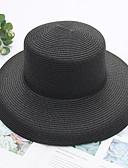 זול בגדי ים במידות גדולות-כל העונות ורוד מסמיק בז' חאקי כובע קש אחיד קש מסיבה בסיסי בגדי ריקוד נשים