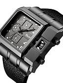 ราคาถูก นาฬิกาข้อมือหรูหรา-สำหรับผู้ชาย นาฬิกาตกแต่งข้อมือ นาฬิกาอิเล็กทรอนิกส์ (Quartz) สไตล์วินเทจ หนัง ดำ / แดง / น้ำตาล 30 m นาฬิกาใส่ลำลอง เท่ห์ ระบบอนาล็อก ความหรูหรา แฟชั่น - แดง ฟ้า สีดำและสีขาว / หนึ่งปี / สแตนเลส