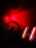baratos Relógio Esportivo-LED Luzes de Bicicleta Luz Traseira Para Bicicleta luzes de segurança Ciclismo de Montanha Moto Ciclismo Impermeável Portátil USB Atenção USB 120 lm Recarregável USB Campismo / Escursão / IPX 6 / ABS