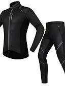 Χαμηλού Κόστους Αντρικές Μπλούζες με Κουκούλα & Φούτερ-WOSAWE Ανδρικά Γυναικεία Μακρυμάνικο Φανέλα με κολάν για ποδηλασία Χειμώνας Προβιά Πολυεστέρας Μαύρο Ποδήλατο Ρούχα σύνολα Διατηρείτε Ζεστό Αδιάβροχη Αντιανεμικό Φλις Επένδυση Πίσω τσέπη Αθλητισμός