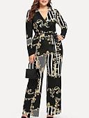 Χαμηλού Κόστους Γυναικείες μακριές και μίνι ολόσωμες φόρμες-Γυναικεία Μαύρο Φούξια Θαλασσί Πλατύ Πόδι Φόρμες Ολόσωμη φόρμα, Γεωμετρικό Τ M L
