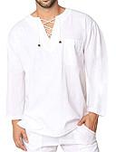 billige Skjorter-Rund hals EU / USA størrelse T-skjorte Herre - Ensfarget Grunnleggende Svart / Langermet
