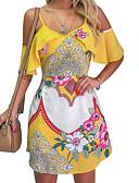 זול שמלות מיני-מעל הברך פרחוני - שמלה שיפון סגנון רחוב אלגנטית בגדי ריקוד נשים