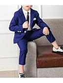 זול חליפות לנושאי הטבעת-בורגנדי / נייבי כהה כותנה חליפה לנושא הטבעת  - 1set כולל עליון / Pants