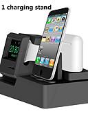 זול Smartwws הרכבות & מחזיקי-3 ב 1 תחנת טעינה הרציף iwatch airpods המטען לעמוד טעינה הרציפים עבור Apple Watch סדרה 3/2/1 / airpods / iPhone x / 8 / פלוס / 7/7/6 / פלוס