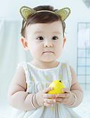 זול ילדים אביזרים לשיער-מידה אחת זהב אביזרי שיער פוליאסטר אחיד פעיל / בסיסי / מתוק בנות פעוטות / עולל / תינוק