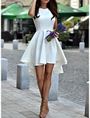זול שמלות מודפסות-א-סימטרי אחיד - שמלה גזרת A אלגנטית בגדי ריקוד נשים