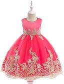 Χαμηλού Κόστους Λουλουδάτα φορέματα για κορίτσια-Πριγκίπισσα Μέχρι το γόνατο Φόρεμα για Κοριτσάκι Λουλουδιών - Βαμβάκι / Τούλι Αμάνικο Με Κόσμημα με Κέντημα / Δαντέλα / Ζώνη / Κορδέλα