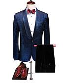 billige Dresser-Havblå Ensfarget Standard Polyester Dress - Buet Enkelt Brystet Enn-knapp / drakter