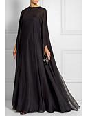 baratos Vestidos de Noite-Tubinho Decorado com Bijuteria Longo Chiffon Minimalista Evento Formal Vestido 2020 com