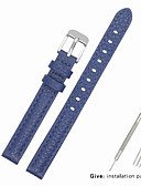 billige Smartwatch Bands-ekte lær / Lær / Kalvehår Klokkerem Strap til Blå Annen / 17cm / 6.69 tommer / 19cm / 7.48 Tommer 1cm / 0.39 Tommer