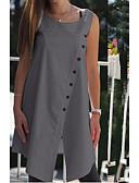 ราคาถูก เสื้อเชิ้ตสำหรับสุภาพสตรี-สำหรับผู้หญิง เสื้อสตรี สีพื้น สีดำ