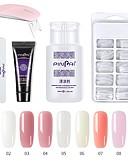 billige Neglelakk og gellakk-1 sett spiker poly gel sett spiker uv led forleng builder akryl gel for å bygge manikyr nail art tips forlengelse polygel kit