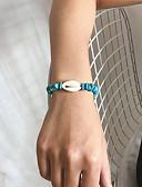 baratos Relógios de quartzo-Mulheres Pulseira Entrançado Concha Na moda Góticas Pedra Pulseira de jóias Azul Para Presente Diário Escola Feriado Trabalho