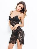 זול שמלות מיני-מעל הברך תחרה גב חשוף מפוצל, אחיד - שמלה צינור שחורה וקטנה מתוחכם אלגנטית בגדי ריקוד נשים