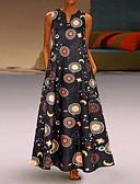 olcso Női ruhák-Női Vintage Kínai Swing Ruha - Kollázs, Színes Maxi