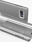 baratos Acessórios para Samsung-Capinha Para Samsung Galaxy S8 Galvanizado / Espelho / Flip Capa Proteção Completa Sólido Rígida PC