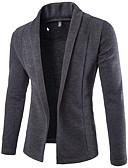povoljno Muški džemperi i kardigani-Muškarci Jednobojni Dugih rukava Kardigan, Klasični rever Crn / Tamno siva / Svijetlosiva US40 / UK40 / EU48 / US42 / UK42 / EU50 / US44 / UK44 / EU52