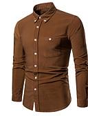 billige Gensere og hettegensere til damer-EU / USA størrelse Skjorte Herre - Ensfarget Navyblå / Langermet
