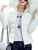 ราคาถูก ของผู้หญิง-Yiwu pby_091x คลุมด้วยผ้าแจ็คเก็ตผ้าฝ้ายของผู้หญิงบางย่อหน้าสั้น ๆ ขนปลอกคอใหญ่แจ็คเก็ตผ้าฝ้ายหญิงขนาดบวกแจ็คเก็ตผ้าฝ้ายสีขาว