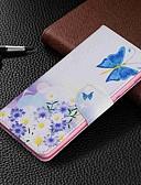 baratos Capinhas para Xiaomi-Capinha Para Xiaomi Xiaomi Redmi 6 Pro / Xiaomi Redmi Note 7 / Xiaomi Redmi 7 Carteira / Porta-Cartão / Com Suporte Capa Proteção Completa Borboleta Rígida PU Leather