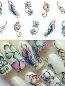 Χαμηλού Κόστους φύλλο Χαρτί-1 pcs Αυτοκόλλητο μεταφοράς νερού Πεταλούδα τέχνη νυχιών Μανικιούρ Πεντικιούρ Universal Στυλάτο Καθημερινά